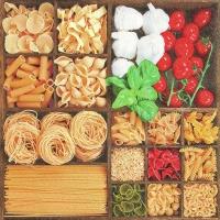 Servietten 33x33 cm - Welt der Pasta