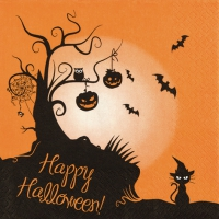 Servietten 33x33 cm - 2 in 1 Halloween