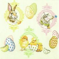 Servietten 33x33 cm - Easter Mix