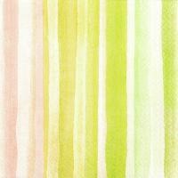 Servietten 33x33 cm - Aquarellfarben gelb/grün