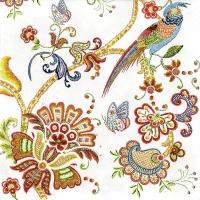 Servietten 33x33 cm - Embroidery Flowers