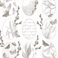 Servietten 33x33 cm - Delicate Easter