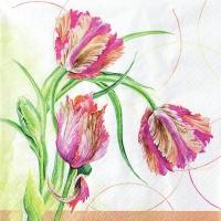 Servietten 33x33 cm - Parrot Tulip