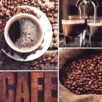 Servietten 33x33 cm - Kaffee-Aroma