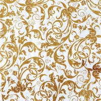 Servietten 33x33 cm - Arabesque gold