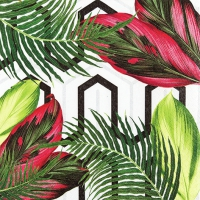 Servietten 33x33 cm - Lebendige Blätter