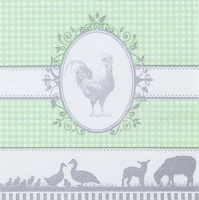 Servietten 33x33 cm - Country light green