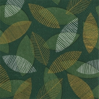 Servietten 33x33 cm - Scattered Leaves gold