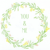 Servietten 33x33 cm - Mia: You&Me