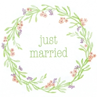 Servietten 33x33 cm - Mia: Just Married
