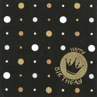 Servietten 33x33 cm - Happy Crown gold