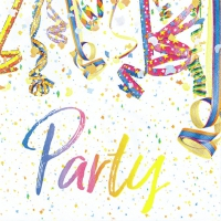 Servietten 33x33 cm - Colourful Party