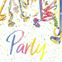 Servietten 33x33 cm - Colourful Party