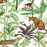 Servietten 33x33 cm - Tropical Zoo