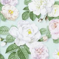 Servietten 33x33 cm - La Rosa mint