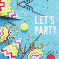 Servietten 33x33 cm - Let`s Party