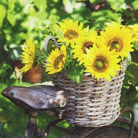 Servietten 33x33 cm - Sunny Flower