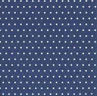 Lunch Servietten Mini Dots dark blue