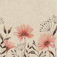 Servietten 33x33 cm - Soft Flowers