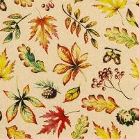 Servietten 33x33 cm - Leaves allover