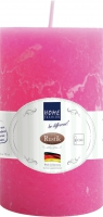 Stumpenkerze Rustik pink