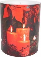 Dekorkerze - Candlelight Poinsettia 99 mm