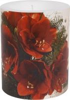 Dekorkerze - Red Amaryllis 99 mm