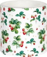 Dekorkerze - Strawberry Pattern