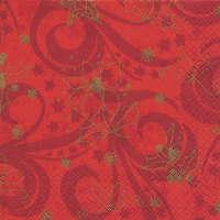 Servietten 25x25 cm - Classical Christmas red