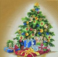 Cocktail Servietten Classical Christmas Tree