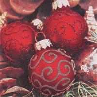 Servietten 25x25 cm - Classy Christmas Balls