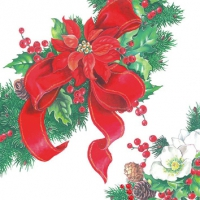 Servietten 25x25 cm - Christmas Wreath
