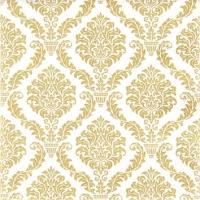 Servietten 25x25 cm - Elegant gold