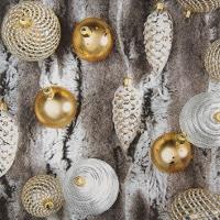 Servietten 25x25 cm - Fur with Ornaments