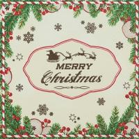 Servietten 25x25 cm - Have a Merry Christmas