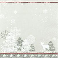 Servietten 25x25 cm - Winter Silhouettes