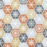 Servietten 25x25 cm - Snowflake Comb glamorous