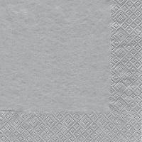 Cocktail Servietten Uni silber