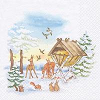 Servietten 33x33 cm - Animals in Winter