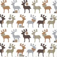 Servietten 33x33 cm - Reindeer kupfer