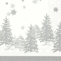 Servietten 33x33 cm - Tree and Snowflakes