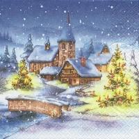 Servietten 33x33 cm - Christmas Village