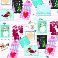 Servietten 33x33 cm - Winter Stamps