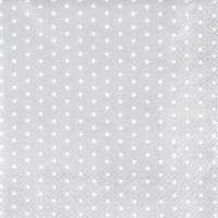 Servietten 33x33 cm - Mini Stars silver