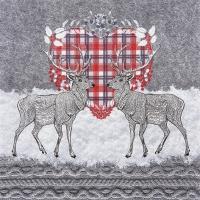 Servietten 33x33 cm - Oh Deer