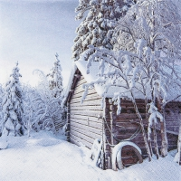 Servietten 33x33 cm - Winter Cabin