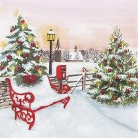 Servietten 33x33 cm - Weihnachtspark