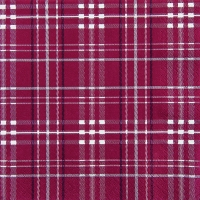 Servietten 33x33 cm - Scottish Check bordeaux