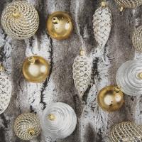 Servietten 33x33 cm - Fur with Ornaments