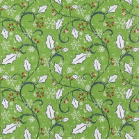 Servietten 33x33 cm - Graphic Ilex green